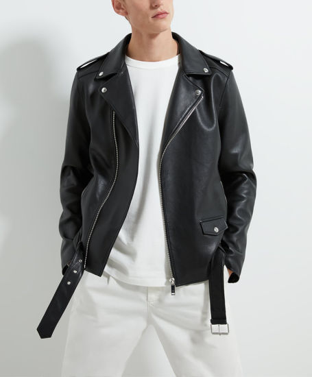 High Quality Custom Design Bomber Satin Interior Zipper Front Welt Pocket Mens Leather Jackets