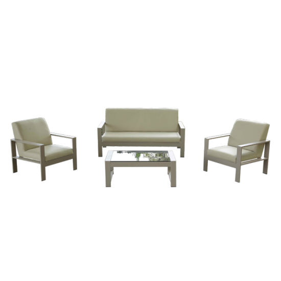 Outdoor Garden Aluminum Furniture Waterproof Sofa Set Double Seat