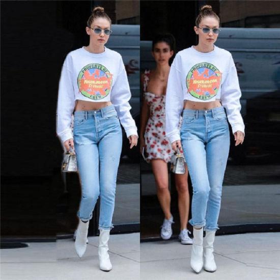 Streetwear Sweatshirt Crop Top Hoodies Womens Crop Hoodies