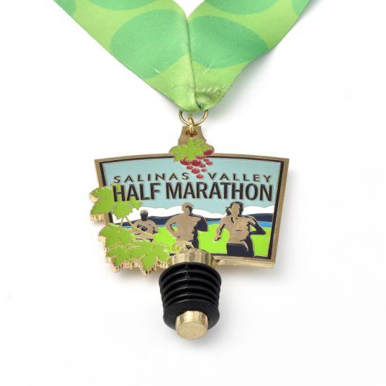 Custom Zinc Alloy 3D Sports Metal Medal Marathon Running Race Award Medal