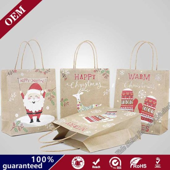 Wholesale Foldable Shopping Personalised Christmas Gift Bag with Custom Prints Logo pictures & photos
