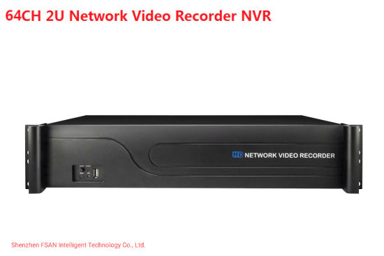 Fsan 2u 8 Hdds 64CH Full Real-Time Video Recorder Dual HDMI Security NVR