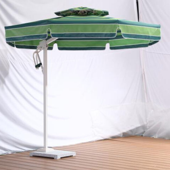 Beach Side Post Windproof Aluminium Outdoor Umbrella