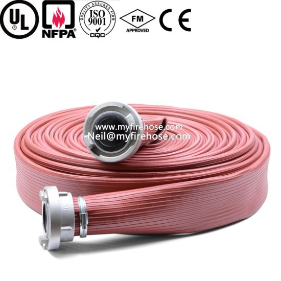 8 Inch Canvas PU Fire Hydrant Hose Material pictures & photos