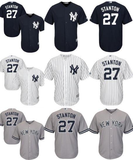 new product b450b b7c10 New York Yankees Giancarlo Stanton Cool Base Baseball Jerseys