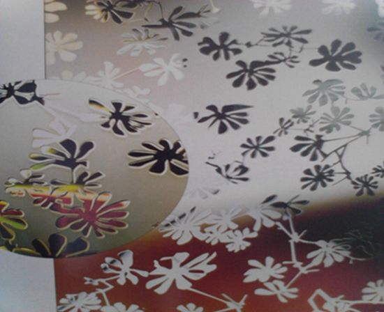 4-6mm Acid Etched Ink Decorative Glass