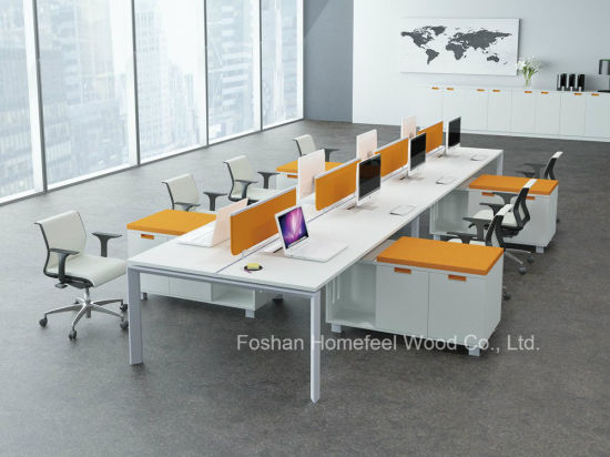 Fashion Design Linear Office Partition L Shape Desk Workstation (HF-YZLB10) pictures & photos