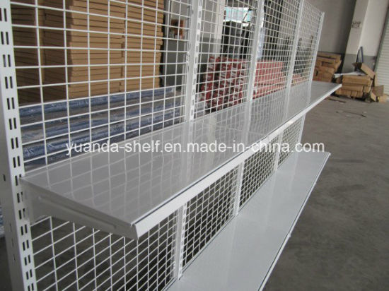 Spanish Style Steel Wire Back Gondola Supermarket Shelving Display Shelves pictures & photos