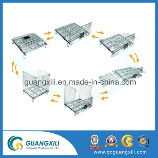 Top Sale Industrial Logistic Medium Foldable Wire Mesh Pallet Box for Storage pictures & photos