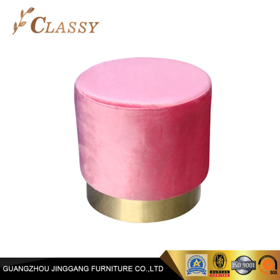 Pleasing Round Shape Optional Color Stools Hotel Room Metal Ottoman Caraccident5 Cool Chair Designs And Ideas Caraccident5Info
