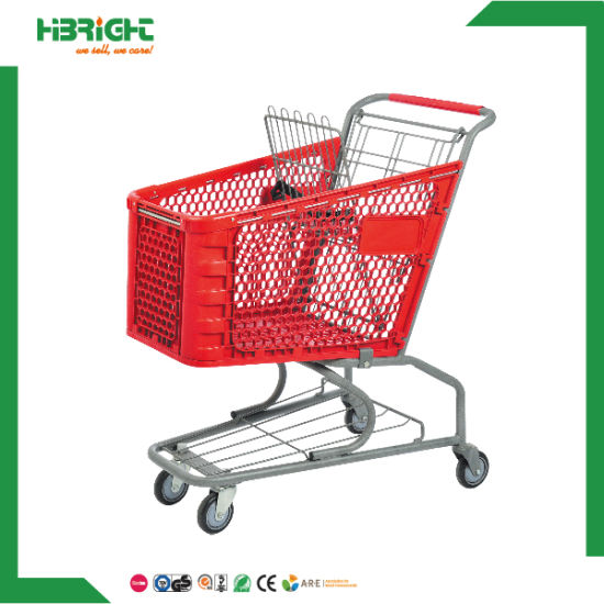 Good Price Plastic Grocery Shopping Carts for Sale pictures & photos