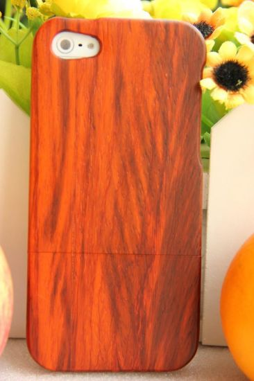 Red Wood Padauk Durable Valuable Mobile Wood Cover pictures & photos