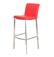 Backrest Stainless Steel Frame Bar Stool pictures & photos