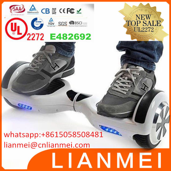 5 Colors LG Plastic Waterproof Electric Hoverboard IP54 6.5inch Balance Scooter UL2272 pictures & photos