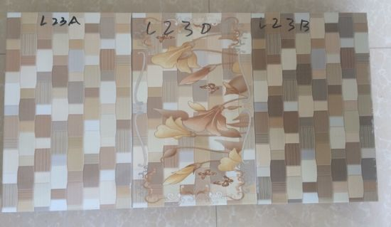 250x500mm New Design 3d Inkjet Printing Marble Looking Tiles For Kitchen Wall