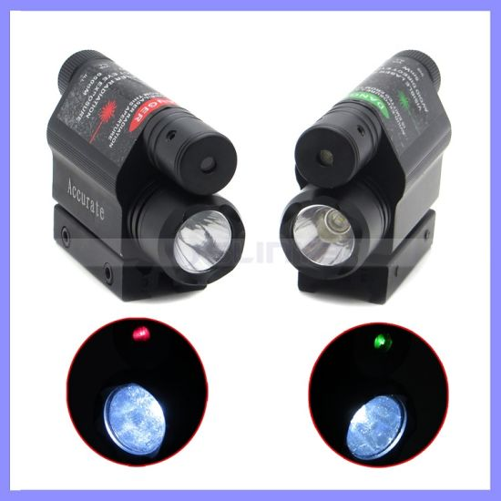 Advanced Optics Tactical Compact Rail Mounted Red Green Laser Sight with 300 Lumen LED Flashlight