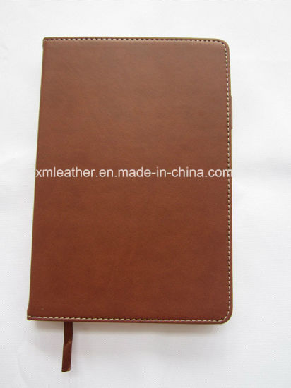 Custom Blank Hardcover Business A5 PU Leather Bound Notebook Diary