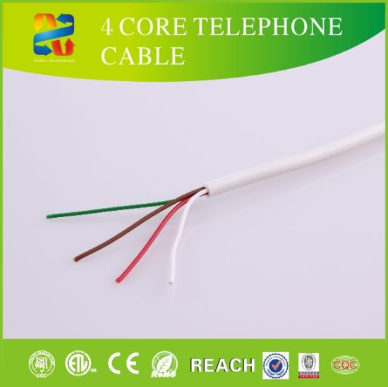 High Quality Indoor Outdoor Telephone Wire 4 Core Telephone Cable