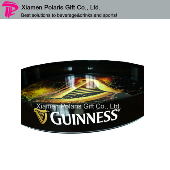 New Unique Glow in Dark Round Plastic Bar Serving Tray pictures & photos