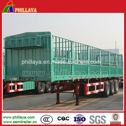 Hot Sale Fence Type Stake Side Board Fence Semi Trailer for Bulk Cargo Transport pictures & photos