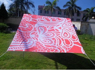 100% UV Resistant Heavy Cotton Beach Shade Tent with Printing Design pictures & photos