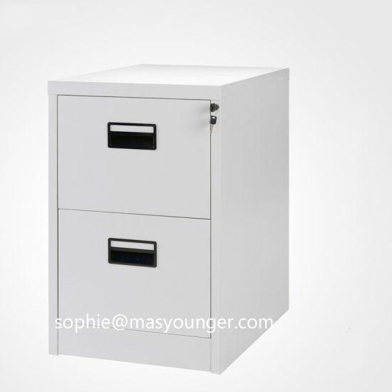 China 2018 Hot Sale Metal 2 Drawer Filing Cabinet Under Desk Home