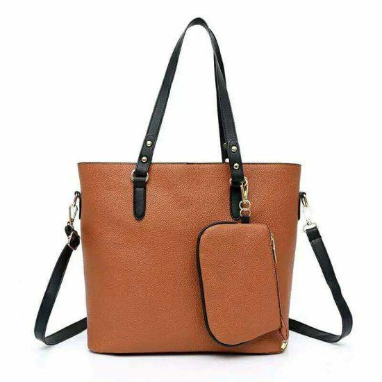 35a2b82489 China Custom Fashion Colorful PU Leather Lady Tote Handbag - China ...