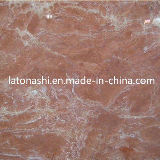 China Orange Marble, Tea Rose Red Marble Tile for Flooring ...