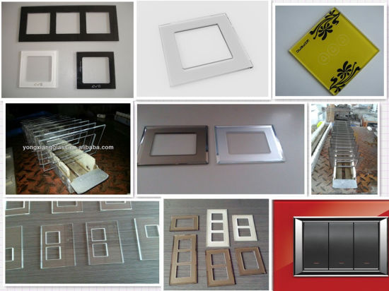 Panel Glass for Switches, Silkscreen Color Switches Glass Panel