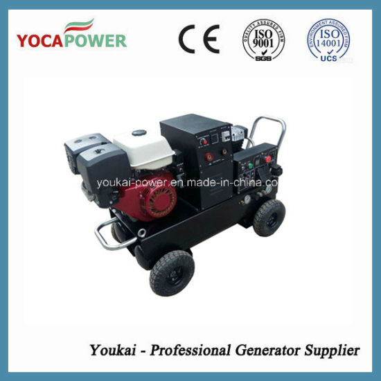 5kVA Electric Power Portable Welder and Air Compressor Gasoline Generator pictures & photos