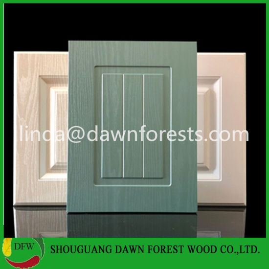 China Anti Scratched Glossy Pvc Mdf Kitchen Cabinet Doors Only