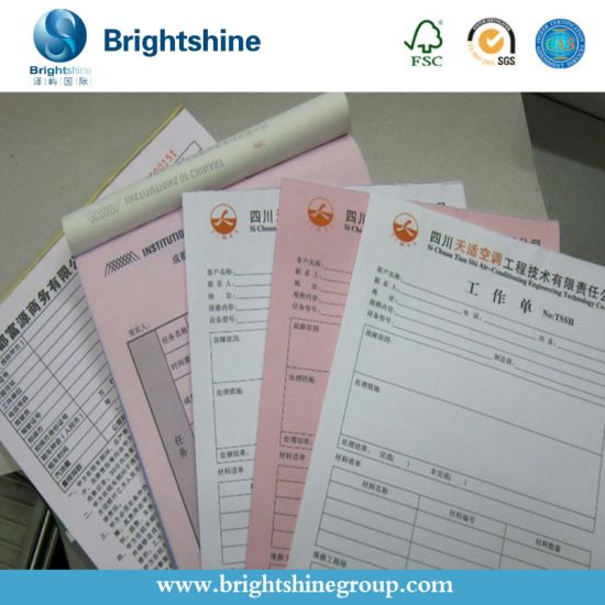 2-Ply/3-Ply 241mm Carbonless/NCR Bank Receipt Paper for Bill Print