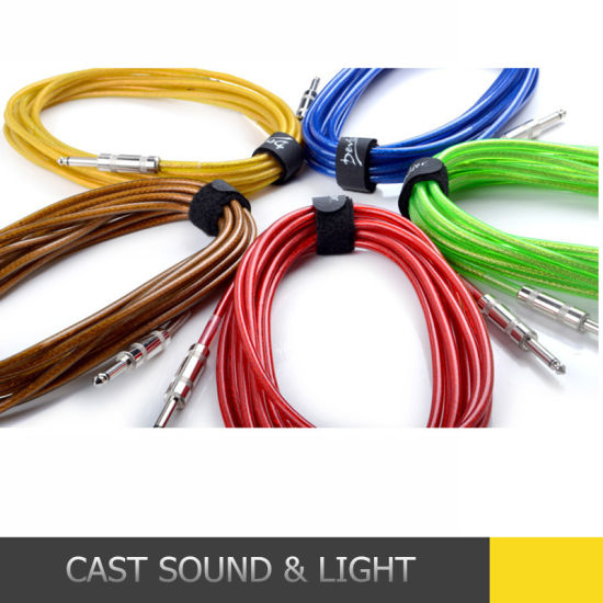 Wholesale 3m 6m10m 15/20m 6.5 Guitar Cable Braided pictures & photos