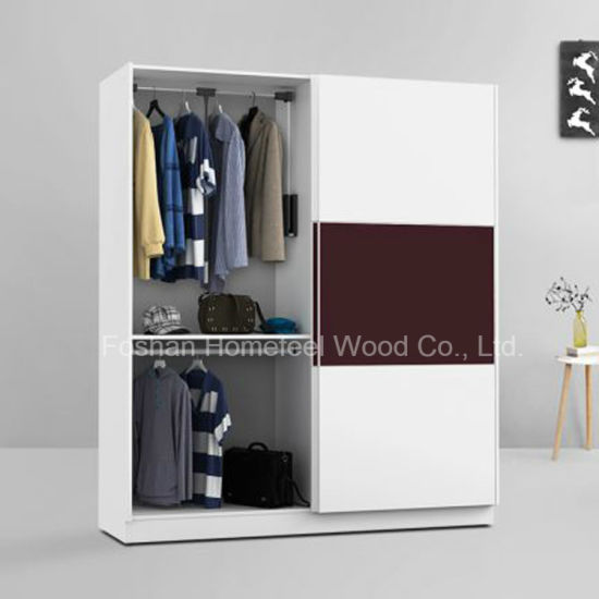 High Quality Wooden Modular Sliding Door Wardrobe (HF-DA009)