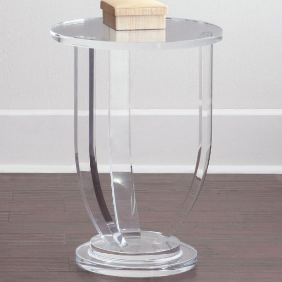 Clear Square Transpa Acrylic Coffee Table Round Dining