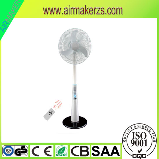 Solar AC/DC Rechargeable Fan with LED/Remote Control pictures & photos