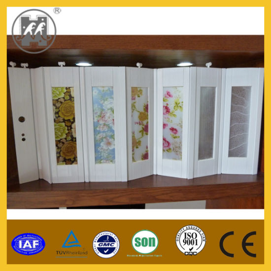 China New Design Interior Pvc Folding Door Pvc Door For Builder