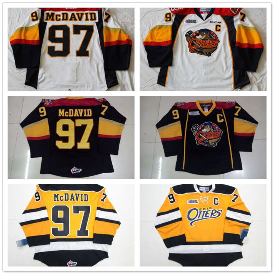 super popular 1c3fb af3ee Custom Ohl Erie Otters Connor Mcdavid Ice Hockey Jerseys