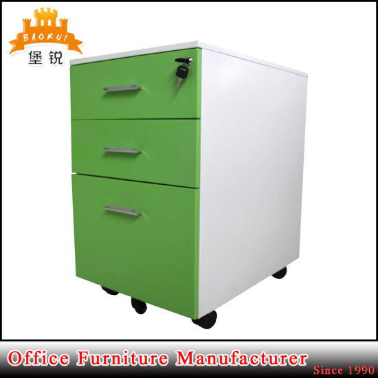 3 Drawer Movable Metal Furniture Mobile Office Cabinet pictures & photos