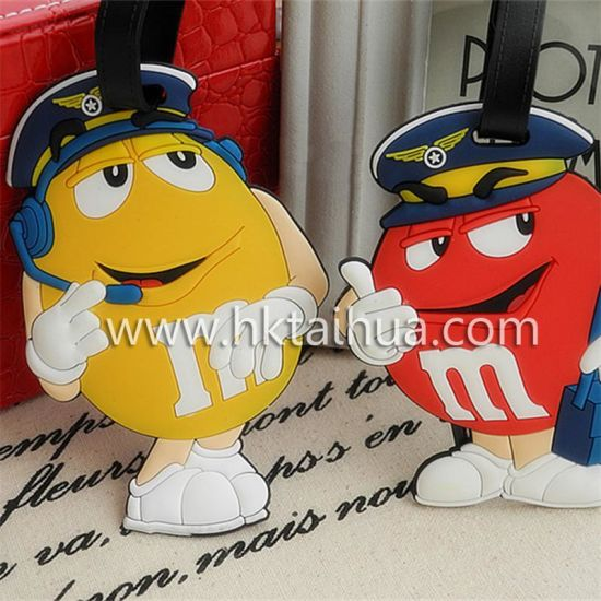 Bulk High Quality Soft PVC Plastic Luggage Tag pictures & photos
