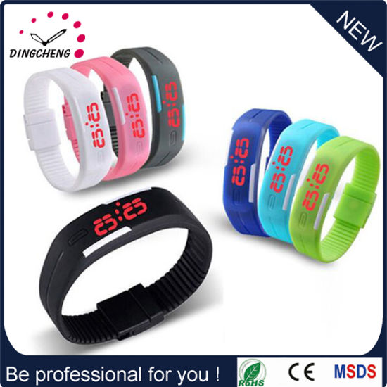 Promotional China Newest Colorful Rubber Silicone LED Watch (DC-611) pictures & photos
