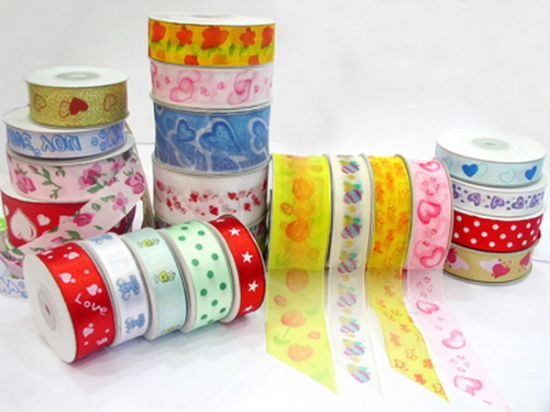 Good Quality Double Face Nylon and Polyester Printing Satin Ribbon pictures & photos