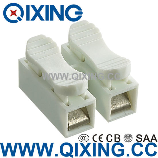 China Two Phase Double Gang Wago Type Terminal Bolock Connector ...
