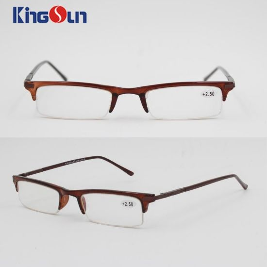 Injection Frame with Metal Temple Reading Glasses