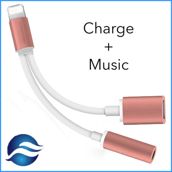 2 In1 Adapter Charger Cable for iPhone7 with Charging USB Port Headset Phone