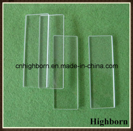 Clear Quartz Glass Microscope Slide 75*25*1mm pictures & photos