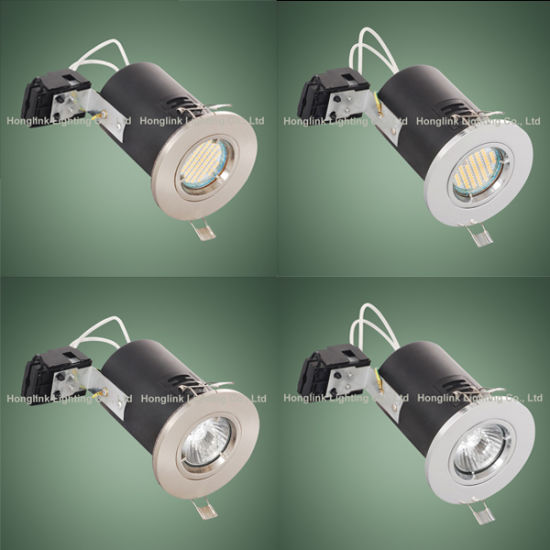 5 x Nickel Fire Rated GU10 Downlight Fixed Ceiling Spotlight Recessed Chrome