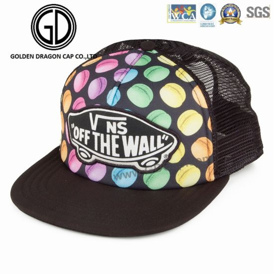 New Fashion Colorful Digital Printing Snapback Headwear Cap with Embroidery  Badge Mesh Back 3315c8c618c3