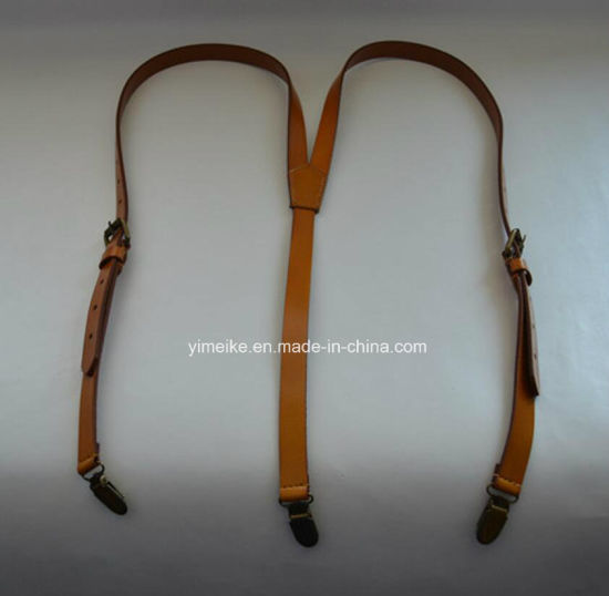 High Quality Western Men's Genuine Cow Leather Suspenders