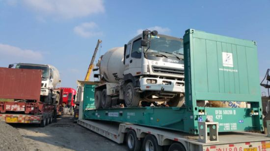 Flat-Rack-Container-Shipping Free-Repaint 2008~2010 Used 6*4-LHD 15ton/6~8cbm Isuzu Concrete Mixer Truck pictures & photos